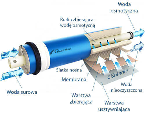 membrana osmotyczna schemat działania